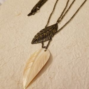 5/$15 Double String Leaf Necklace
